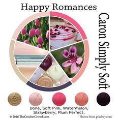 Caron Simply Soft Happy Romances Color Combinations