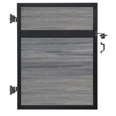 Veranda Euro Style 4 ft. W x 6 ft. H Oxford Grey Aluminum/Composite Estate Adjustable Fence Gate