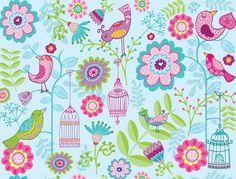 Design a print: Kaz Floral Design, Colorful, Digital, Paper, Creative, Illustration, Prints, Blue, Art