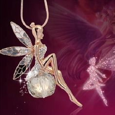 Fashion Women Crystal Fairy Angel Wing Pendant Long Chain Sweater Necklace Gift in Jewelry & Watches, Fashion Jewelry, Necklaces & Pendants Crystal Pendant, Crystal Necklace, Crystal Rhinestone, Pendant Jewelry, Pendant Necklace, Chain Jewelry, Crystal Ball, Rhinestone Necklace, Fairy Jewelry