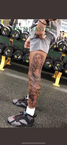Buddah Sleeve Tattoo, Leg Tattoo Men, Chest Tattoo, Leg Tattoos, I Tattoo, Small Tattoos, Cool Tattoos, Awesome Tattoos, Tatoos Men