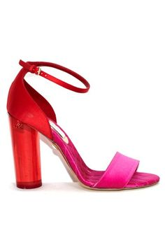 9/13/11 red and pink stella mccartney resort shoes 2012. Happy Birthday to the designer as well as Jacqueline Bisset, Don Was, Ben Savage, and Fiona Apple!