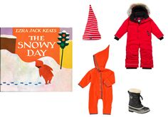 Polarn O. Pyret elf cap, $6polarnopyretusa.comCanada Goose Grizzly snow suit, $495backcountry.comSorel Yoot PAC rainproof boots, $83smallable.comZutano Cozie elf bodysuit, $45giggle.com - Photo: (Clockwise from left) Courtesy of polarnopyretusa.com; Courtesy of backcountry.com; Courtesy of smallable.com; Courtesy of giggle.com