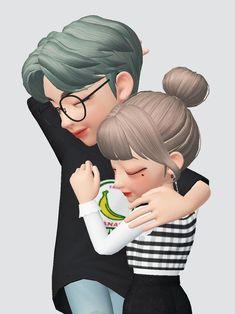 Love Cartoon Couple, Cute Cartoon Pictures, Cute Love Cartoons, Cute Pictures, Cute Love Images, Happy Cartoon, Jungkook Fanart, Black Aesthetic Wallpaper, Ulzzang Couple
