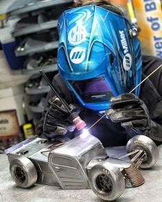 Motorsports inspired hotrod welding metal art cold hard art