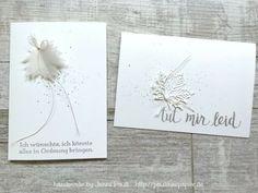 Karten für Beileid Trauer und Todesfall basteln Stempeln DIY mit Stampinup Produkten