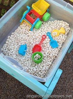 DIY Sensory Tables, this will keep them busy and have a blast