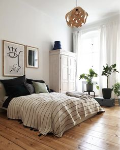 Bedroom with high ceilings and moroccan striped throw in A Lovely, Understated, . Bedroom with high ceilings and moroccan striped throw in A Lovely, Understated, Warm and Inviting Berlin Home Source by nikiatmsh. Blue Bedroom, Cozy Bedroom, Bedroom Decor, Bedroom Boys, Bedroom Simple, Bedroom Interiors, Bedroom Ideas, Home Design, Design Ideas
