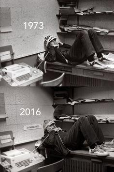 Bill Gates Recreates High School Photo 46 Years Later - Neatorama