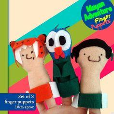 Finger Puppets, Set of 3!