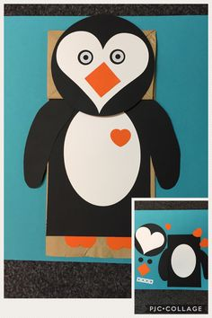 Penguin Paper Bag Puppet