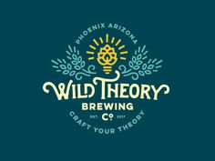 Wild Theory Brewing Co Logo by Jared Jacob #Design Popular #Dribbble #shots
