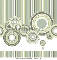 Vector Creative design of a retro background with circles - stock vector