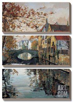 Brugge Reflections Canvas Art Set by Robert Schaar at Art.co.uk