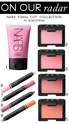 Ooo pretty colors. On Our Radar: NARS 'Final Cut' Collection at Nordstrom