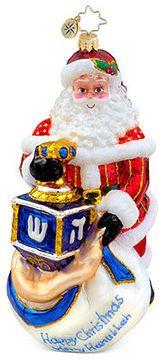 Christopher Radko Hannukah Ornament, Christm-kkah Nick on shopstyle.com
