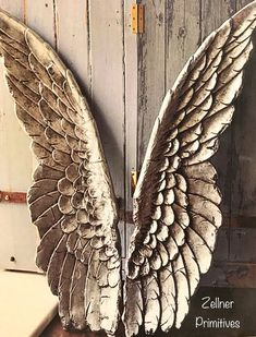 Angel Wings Picture / Print Is Adhered To Wood And Comes Ready To Display / Or Print To Easily Frame Wood Angel Wings, Angel Wings Decor, Wooden Angel, Angel Decor, Angel Art, Angel Wings Pictures, Keramik Design, Angel Crafts, Fabric Birds