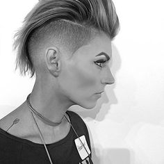 Taper Fade Faux Hawk Cut By @mikeyyyyyyy_ #UCFeed #BuzzCutFeed #Undercut #Undercuts #SideCut #SideShave #ShavedNape #NapeShave #GirlsWithShavedHeads #BuzzCut #UndercutNation #Pixie #PixieCut #PixieHair #ShortHair #ShortHairDontCare #ShortHaircut #WomensFashion #HotOnBeauty #BeautyLaunchPad #ShortHaircut #NapeBuzz #ShavedHair #NapeBuzz #NapeCut #PixieHawk #TaperFade #Faded #FauxHawk