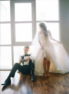 Joseph Morgan and Persia White's wedding photo