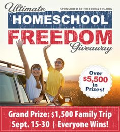 Raising Samuels Homeschool: Ultimate Homeschool Freedom Giveaway