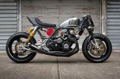 Road Bomber: a brutal custom Honda CBX by Bad Seeds MC.