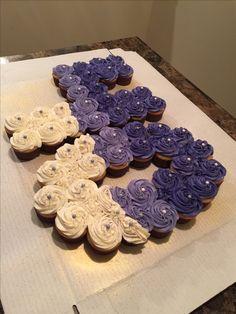 Number 40 cupcake cake!