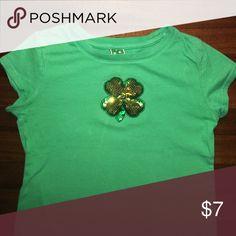 Girls sequined shamrock tshirt (0021) Girls sequined shamrock tshirt (0021) Shirts & Tops Tees - Short Sleeve