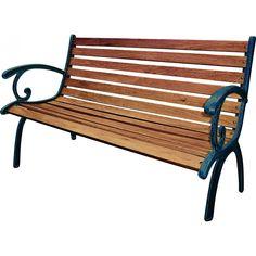 Valurautarunkoinen puutarhapenkki. Istuinosat kovapuuta. Puhdistus puhtaalla liinalla.