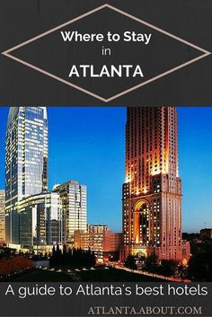 The most important factor when deciding where to stay in Atlanta is your desired location: Buckhead, Midtown or Downtown? Here's a round up of the best hotels for each area. Atlanta Nightlife, Atlanta Midtown, Atlanta Usa, Atlanta Skyline, Hotels In Atlanta Georgia, Visit Atlanta, Atlanta Travel, Need A Vacation, Vacation Trips