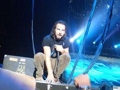 Eddie in a gargoyle pose