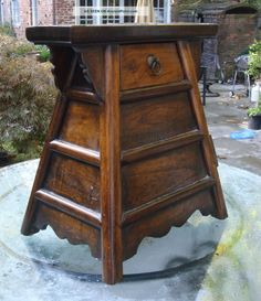 Antique Asian Chinese Wood Prayer Temple Box Cabinet Tables photo