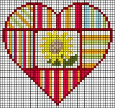 Embroidery Hearts, Cross Stitch Embroidery, Embroidery Patterns, Hand Embroidery, Cross Stitch For Kids, Cross Stitch Heart, Wedding Cross Stitch Patterns, Chart Design, Plastic Canvas Patterns