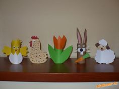 Jarní a velikonoční výzdoba z ruliček Easter Crafts, Activities For Kids, Nursery, Spring, Fun, Christmas Crafts, Activities For Toddlers, Easter Activities, Children Activities