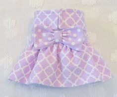 Female Dog Diaper Skirt  Perfect for your dog in Season and House Training Flannel Lavender or Coral by piddleronthewoof on Etsy