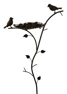 Antique Brown & Green Leaf Design Wild Bird Bath Feeder Garden Ornament Spike