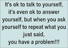 its ok to talk to yourself funny quotes quote crazy lol funny quote funny quotes humor