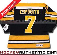 Phil Esposito SIGNED Boston Bruins 1970 CCM vintage jersey. Phil EspositoVintage  JerseysBoston BruinsNhlHockeyField ... d75bbfe14