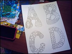Draw.Doodle.Decorate - .Draw.Doodle.Decorate - AlphabetDoodles
