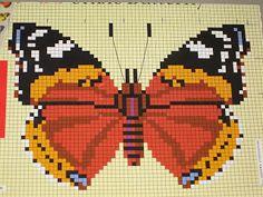 Cross stitch butterflies and chart. Mundo do Ponto Cruz & Cia