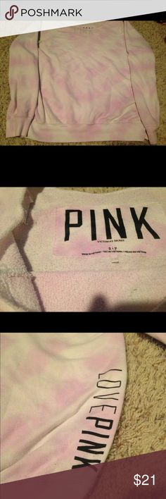 Victoria's Secret PINK Lavender Tie-Dye Sweater Slouchy Lavender Tie-Dye Sweater from PINK Victoria's Secret. PINK Victoria's Secret Sweaters