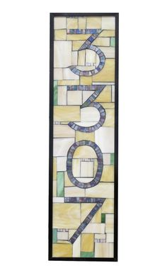 Custom Stained Glass Mosaic House Numbers