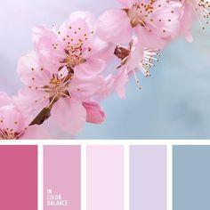 Напоминает свежее летнее утро, когда можно поваляться в постели и никуда не спешить. Нежные оттенки розового прекрасно сочетаются со спокойным холодным голубым, успокаивая и поднимая настроение. Такое сочетание цветов идеально подойдёт для спальни — места спокойствия и отдыха от будничной суеты.