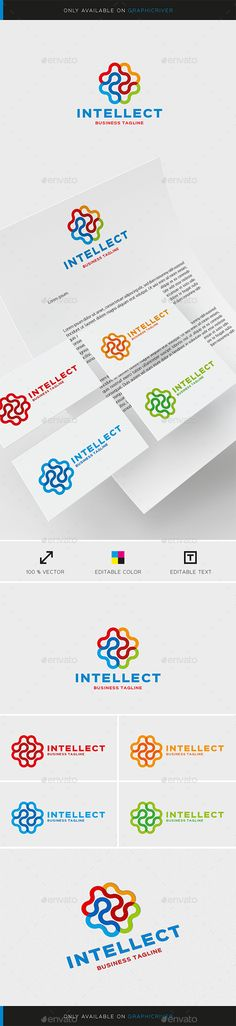 Intellect Logo Template — Vector EPS #intellect #medicine • Available here → https://graphicriver.net/item/intellect-logo-template/15531920?ref=pxcr