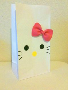 goody bag hello kitty for my great nieces with detachable bows.