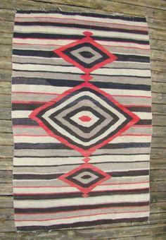 Large Antique Native American Indian Navajo Rug Navaho Blanket Stripes | eBay