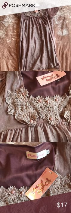 Blush/ Lavender dress Midi Dress with lace detail New with tags Never worn Pretty Angel Dresses Midi