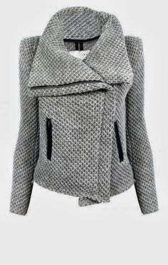 Fashionable Gray Comfy and Cozy Asymmetric Jacket for Ladies
