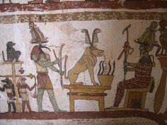 Paintings from the tomb of Petosiris at Muzawaka (XLI)   by isawnyu