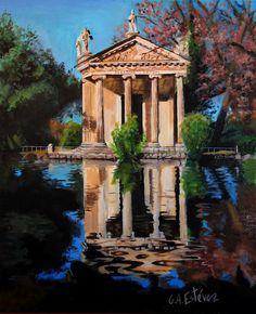 Esculapio Temple-Villa Borghese