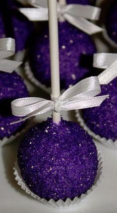 Ideas For Bridal Shower Cake Pops Purple Desserts Purple Desserts, Purple Cakes, Purple Birthday Cakes, Purple Cake Pops, Wedding Cake Pops, Wedding Cakes, Chocolate Cake Pops, Chocolate Color, Purple Food